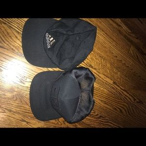 2 hats for 1 Nike golf trucker and adidas dad hat